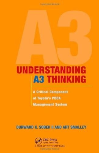 Understanding A3 Thinking: A Critical Component of Toyotas PDCA Management System, by Sobek 9781563273605