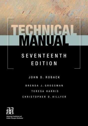 Technical Manual, by Roback, 17th Edition 9781563953156