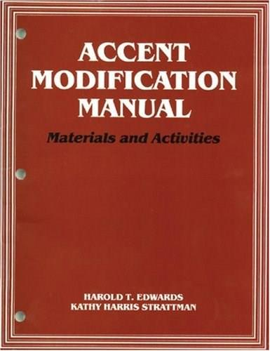 Accent Modification Manual: Materials and Activities, by Edwards 9781565934528