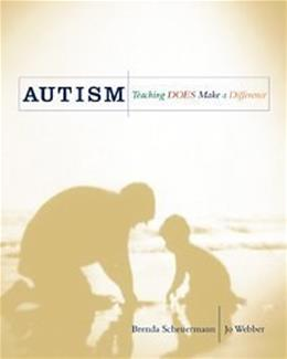 Autism: Teaching Does Make a Difference, by Scheuermann 9781565938946