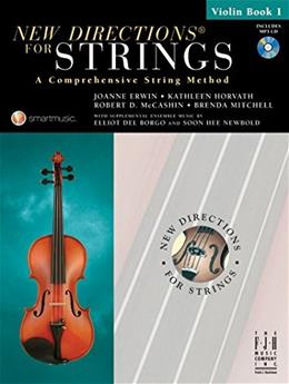 New Directions for Strings Violin, by Erwin, Book 1 BK w/CD 9781569395721
