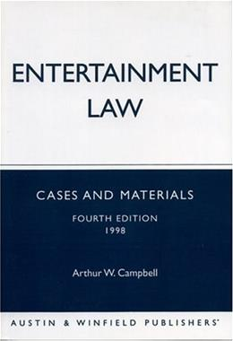 Entertainment Law 4TH 9781572920842