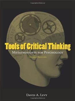 Tools of Critical Thinking: Metathoughts for Psychology (Second edition) 2 9781577666295