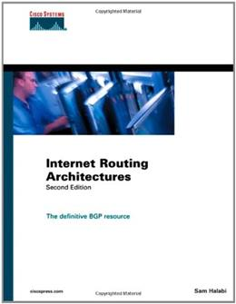 Internet Routing Architectures, by Halabi, 2nd Edition 9781578702336