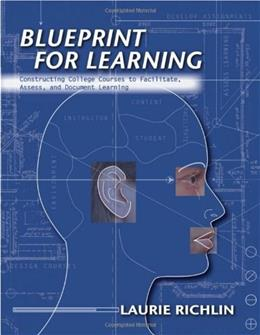Blueprint For Learning: Creating College Courses to Facilitate, Assess, and Docment Learning, by Richlin 9781579221430