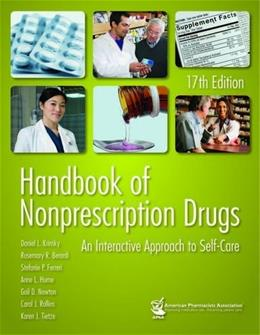 Handbook of Nonprescription Drugs: An Interactive Approach to Self Care, by Krinsky, 17th Edition 9781582121604