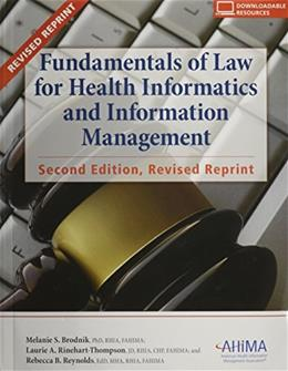 Fundamentals of Law for Health Informatics and Information Management 2 PKG 9781584260738
