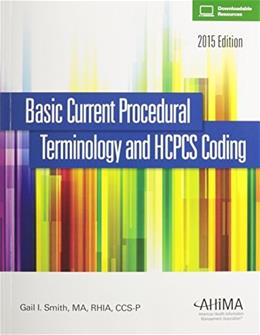 Basic Current Procedural Terminology/HCPCS 2015 9781584265016