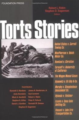 Rabin and Sugarmans Torts Stories, by Rabin 9781587785030