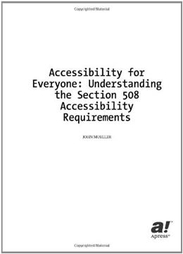 Accessibility for Everybody 9781590590867