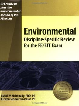 Environmental Discipline Specific Review for the FE EIT Exam, by Naimpally 9781591260189