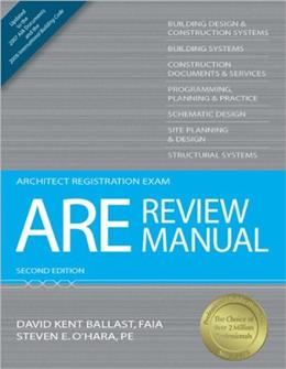 ARE Review Manual, by Ballast, 2nd Edition 9781591263210