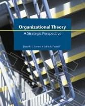 Organizational Theory: A Strategic Perspective, by Lester PKG 9781592602599