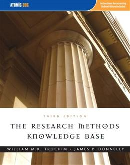 Research Methods Knowledge Base, by Trochim, 3rd Edition 3 PKG 9781592602919