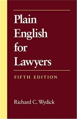 Plain English for Lawyers 5 9781594601514