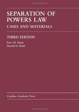Separation of Powers Law, by Shane, 3rd Edition 9781594607417