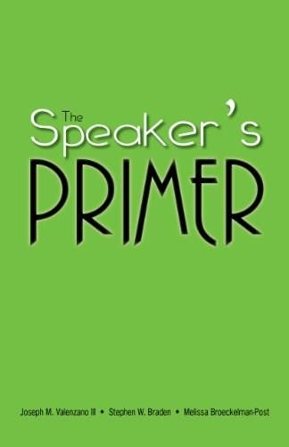 Speakers Primer, by Valenzano, 12th Edition 13 9781598716207