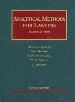 Analytical Methods for Lawyers, by Jackson, 2nd Edition 9781599419213