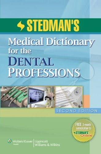 Medical Dictionary for the Dental Professions, by Stedman, 2nd Edition 2 PKG 9781608311460