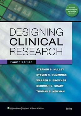 Designing Clinical Research, by Hulley, 4th Edition 4 PKG 9781608318049