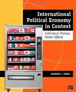 International Political Economy in Context, by Sobel 9781608717118