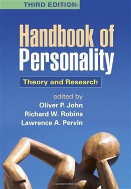 Handbook of Personality: Theory and Research, by John, 3rd Edition 9781609180591