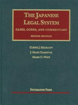 Japanese Legal System, by Milhaupt, 2nd Edition 9781609300296