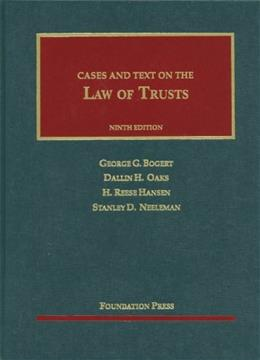 Law of Trusts, by Bogert, 9th Edition 9781609300982