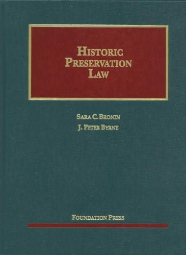 Historic Preservation Law, by Bronin 9781609301064