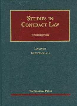 Studies in Contract Law (University Casebook Series) 8 9781609301170