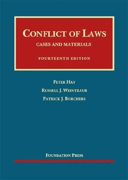 Conflict of Laws, by Hay, 14th Edition 9781609302764