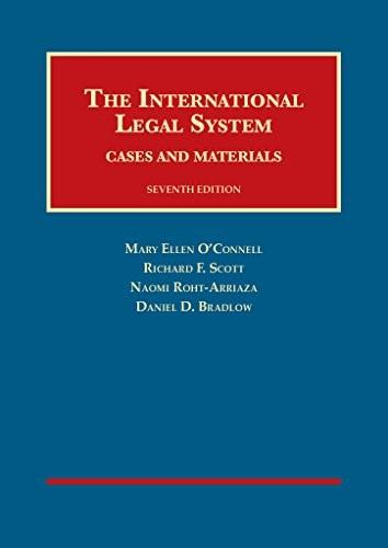 International Legal System: Cases and Materials, by O