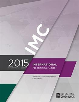 2015 International Mechanical Code, by International Code Council 9781609834791