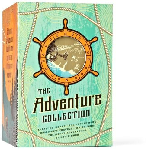 The Adventure Collection: Gullivers Travels, White Fang, The Jungle Book, The Adventures of Robin Hood, Treasure Island (The Heirloom Collection) 9781612184166
