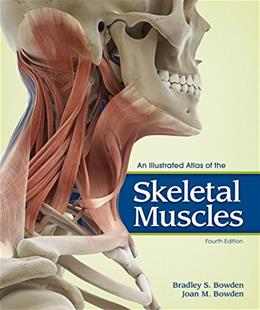 Illustrated Atlas of the Skeletal Muscles, by Bowden, 4th Edition 9781617311727