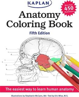 Anatomy Coloring Book, by McCann, 5th Edition 9781618655981