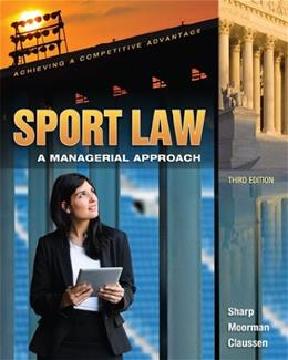 Sport Law: A Managerial Approach 3 9781621590033