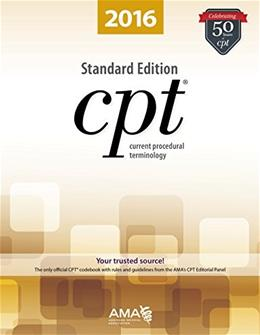 CPT 2016 Standard Edition (Cpt / Current Procedural Terminology (Standard Edition)) 9781622022083