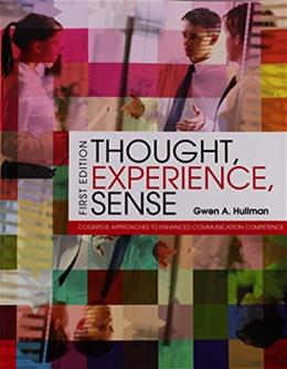 Thought, Experience, Sense: Cognitive Approaches to Enhanced Communication Competence, by Hullman 9781626610927