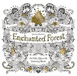 Enchanted Forest: An Inky Quest & Coloring Book Act Clr Cs 9781780674889