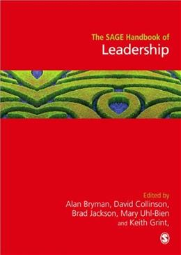 SAGE Handbook of Leadership, by Bryman 9781848601468