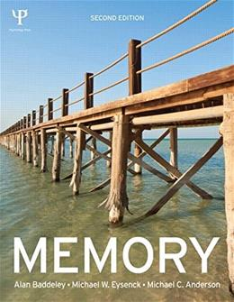 Memory, by Baddeley, 2nd Edition 9781848721845