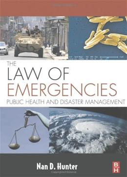 Law of Emergencies: Public Health and Disaster Management, by Hunter 9781856175470