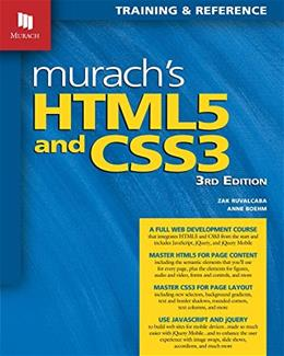 Murachs HTML5 and CSS3, by Boehm, 3rd Edition 9781890774837