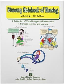 Memory Notebook of Nursing: A Collection of Visual Images and Memonics to Increase Memory and Learning, by Zerwekh, 4th Edition, Volume 2 9781892155177