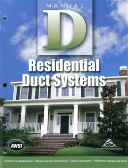 Manual D Residential Duct Systems 3 9781892765505