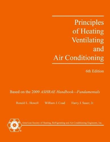 Principles of Heating, Ventilating and Air Conditioning: Includes RTS Method Load Calculation Spreadsheets, by Coad, 6th Edition 6 w/CD 9781933742694