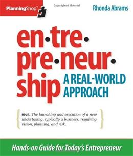 Entrepreneurship: A Real-World Approach, by Abrams 9781933895260