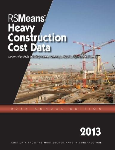 Heavy Construction Cost Data, by RSMeans, 27th Edition 9781936335640