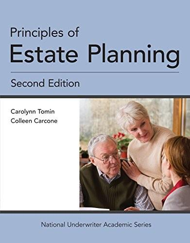 Principles of Estate Planning, by Tomin, 2nd Edition 9781941627570